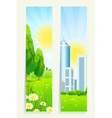 Two Cool Vertical Banners vector image vector image
