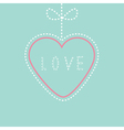 Hanging pink and blue heart with bow Love card vector image
