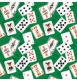 Playing cards seamless pattern vector image