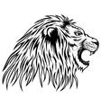 lion roars vector image