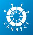 Round logo chip network vector image