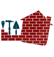 Construction houses emblem vector image