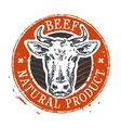cow logo design template beef or farm icon vector image