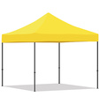 Yellow folding tent vector image
