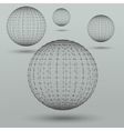 Abstract polygonal spheres vector image