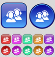Call center icon sign A set of twelve vintage vector image