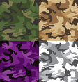 Camouflage multi seamless pattern vector image
