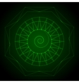 Geometry neon hexagon in green vector image