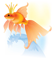 Goldfish in the crown vector image
