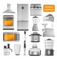 kitchen electric appliances big set vector image