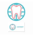 Tooth and world logo template vector image