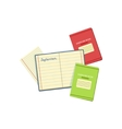 Several Notebooks For Studies vector image