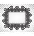 vintage frame on dot pattern vector image vector image