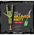 Halloween rock n roll zombie background vector image