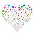 drop fireworks heart vector image