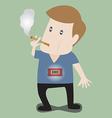 smokingMan is Smoking with bomb timer vector image vector image