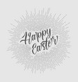 retro happy easter card poster vector image