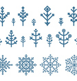 Different snowflake elements set Design template vector image vector image