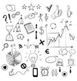 Set of business doodles elements vector image