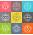 Set of line signs and emblems with hipster symbols vector image vector image