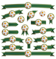 football ribbons vector image vector image