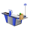 cash register terminal vector image vector image