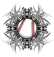 Baseball Softball Tribal Graphic Image vector image vector image