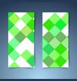 bright green geometrical modern tile banner vector image