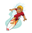 Cartoon Surfer Action vector image