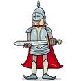 knight with sword cartoon vector image