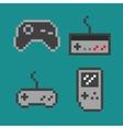 Pixel art - simple gamepads vector image