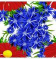seamless flower pattern vector image