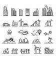 urban line icons vector image