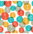 Abstract colorful retro seamless pattern balls doo vector image vector image