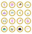 spa cartoon icon circle vector image