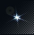 star flare on transparent background vector image