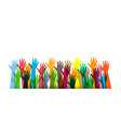 hands of different colors cultural vector image vector image
