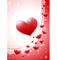 Valentine card with glossy heart vector image