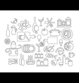 Kitchen and cooking icons vector image