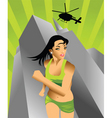 action girl vector image vector image
