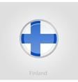 Finland flag button vector image