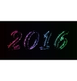 New year date design vector image