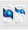 Business card abstract background vector image