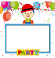 clown with poster vector image vector image