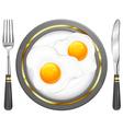 tableware breakfast egge vector image vector image