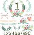 Wedding FloralVintage FlowersTable Cardwreaths vector image