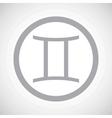 Grey gemini sign icon vector image