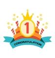 Happy birthday badges icon vector image
