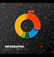 infographic pie chart template vector image