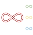 Limitless symbol Set of line icons vector image
